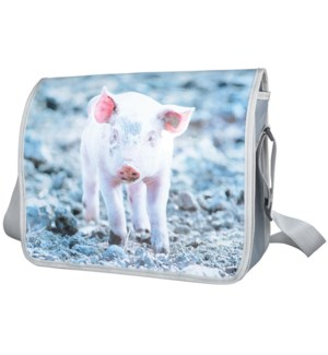 """Shoulder bag pig. Polyester,"""