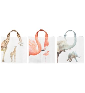 Shopping bag zoo animalnecks ass. PP Woven fabric. 39,0x14,0x39,0cm. oq/24,mc/96 Pg.118
