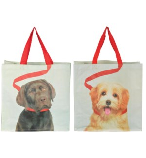Shopping bag dog on leash ass. PP Woven fabric, polyester. 39,0x14,0x39,0cm. oq/24,mc/96 Pg.118