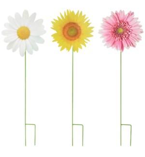 Garden stick flower ass. Mtl