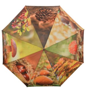 Umbrella autumn. Polyester, metal, wood. 120,0x120,0x95,0cm. oq/12,mc/48 Pg.116