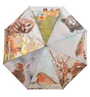 Umbrella winter. Polyester, metal, wood. 120,0x120,0x95,0cm. oq/12,mc/48 Pg.116