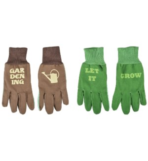 """Gloves with text assortment. 0. 13,0x1,0x25,7cm. oq/12,mc/240 Pg.121"""
