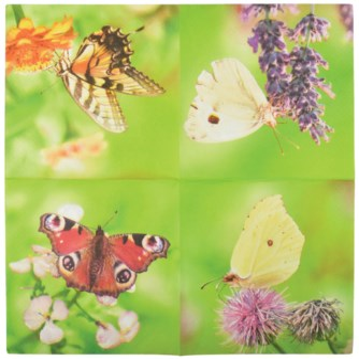 Paper Napkins butterflies. Tissue paper (3 ply). 16,5x16,5x2,3cm. oq/12,mc/12 Pg.120