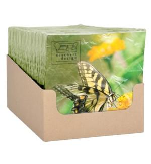 """Paper Napkins butterflies. Tissue paper (3 ply). 16,5x16,5x2,3cm. oq/12,mc/12 Pg.120"""