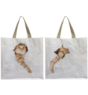 """Shopping bag cat break through. 0. 39,5x14,5x40,0cm. oq/24,mc/96"""