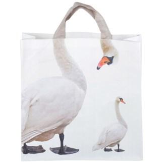 Shopping bag swan - 15.75x5.75x20.25 inches