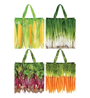 Shopping bag vegetables 4 ass. - 0.25x0.25x0.25 inches