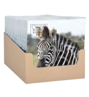 Paper napkins zebra 33x33cm - 6.75x6.75x1.25 inches