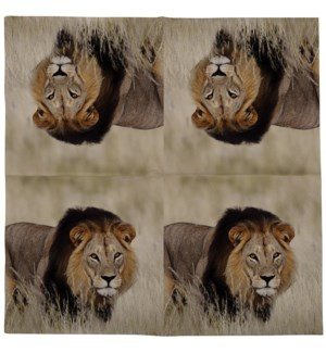Paper napkins lion 33x33cm - 6.75x6.75x1.25 inches