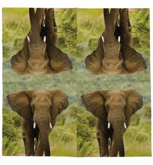 Paper napkins elephant 33x33cm - 6.75x6.75x1.25 inches
