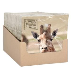 Paper napkins giraffe 33x33cm - 6.75x6.75x1.25 inches