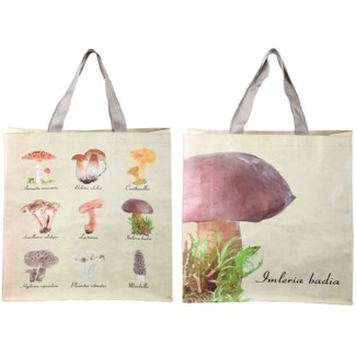 Shopping bag collectibles mushrooms, PP Woven fabric, polyester - 15.6x5.7x15.7in.