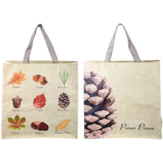 Shopping bag collectibles trees, PP Woven fabric, polyester - 15.6x5.7x15.7in.