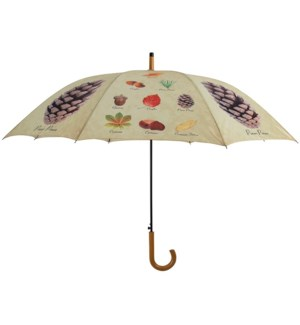 """Umbrella collectibles trees, Polyester, metal, wood - 47.2x47.2x37.4in."""