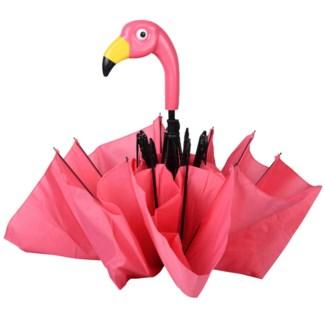 Foldable umbrella flamingo