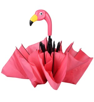 Foldable umbrella flamingo