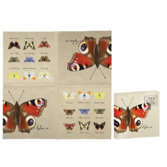 Paper napkins butterfly collection
