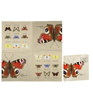 Paper napkins butterfly collec
