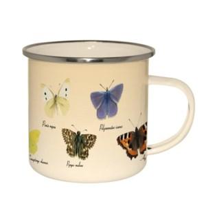 Enamel mug butterflies
