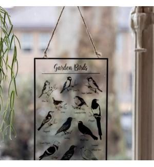 Glass hanger garden birds