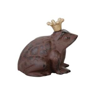 Frog with crown. Cast iron. 20,5x17,5x19,7cm. oq/4,mc/4 Pg.93