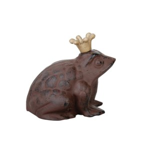 Frog with crown. Cast iron. 20