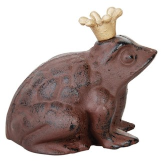 Frog with crown small. Cast iron. 13,5x11,9x12,9cm. oq/12,mc/12 Pg.93