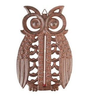 Owl thermometer. Cast Iron. 13