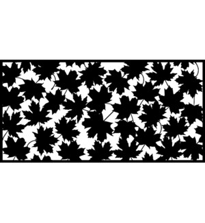 Wall art rectangular leaves
