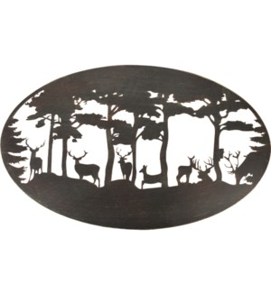 Wall art oval deer