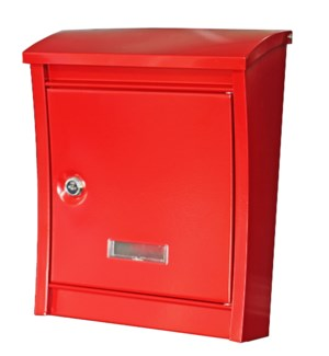 """Dorsa steel mailbox, med red"""