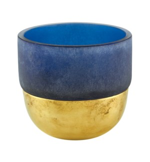 Votive Gold Decor Blue Large