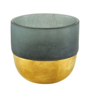 Votive Gold Decor Grey Large