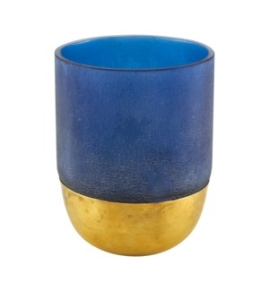 Votive Gold Decor Blue Small