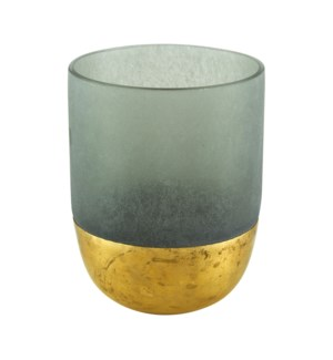 Votive Gold Decor Grey Small