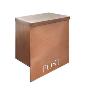 """Stanley Iron Mailbox, Antique Copper, W/Cut"""