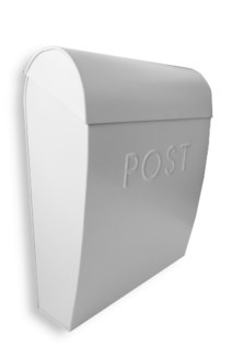 Sylvia Large Euro Mailbox Gray, Galvanised 12 x 5.25 x 15 inches