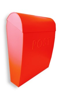 Sylvia Large Euro Mailbox Red, Galvanised 12 x 5.25 x 15 inches