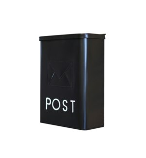 Serena Galvanised POST Mailbox Black, 10.5 x 4.25 x 14.25 inches On sale 30 percent off