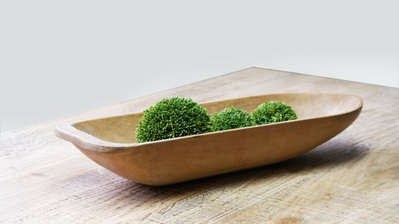 Small Wooden Dough Bowl Approx  24 *each piece is unique and therefore may vary slightly in shape/s