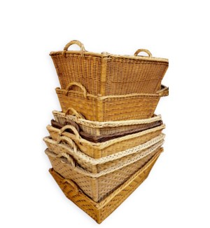 Large Antique French Baskets.
