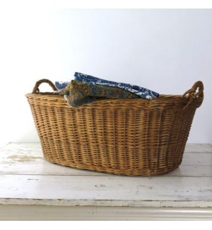 Antique French Basket, Oval - France, 1880