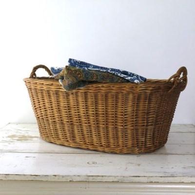 Antique French Basket, Oval - France, 1880