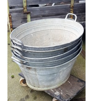 Antique German Zinc Tub