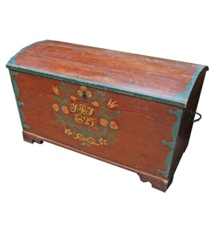 """Antique German Painted Trunk, From Germany 1825 On Sale 35 percent off"""