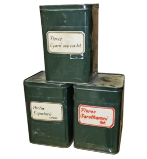 """Vintage herb storage box,OS"""