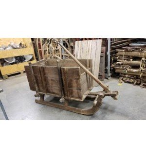 Vintage Sled Cart Cira France 1900