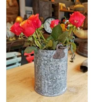 Vintage Zinc Flowerpot OS