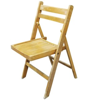 Germany 1940 Folding Chair, Wood, 19x18x31.2 Inch